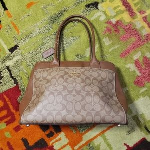 Coach Purse Carry on Brown